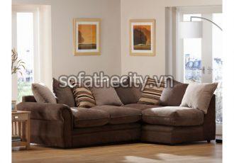 Sofa Góc Cao Cấp Màu Nâu