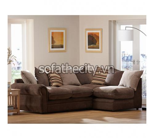 Sofa Góc Cao Cấp Màu Xám