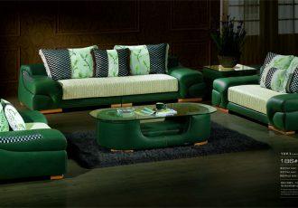 Sofa Trọn Bộ cao cấp màu xanh
