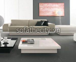 Bàn Sofa cao cấp màu trắng – BS-07