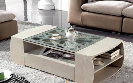 Bàn kính Sofa uống trà cho phòng khách