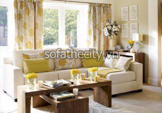 Bàn Ghế Sofa Góc Cao Cấp Làm Từ Vải Giá Rẻ