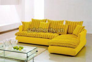 Sofa Góc Cao Cấp Màu Vàng