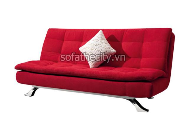 Sofa Giường Vải Bố Màu Đỏ