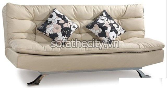 Sofa Bed Giả Da Màu Kem Cao Cấp – DA03(8)