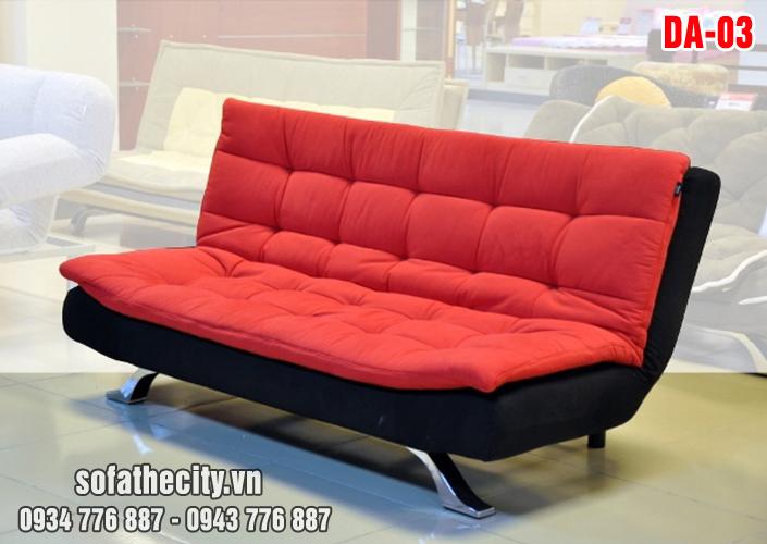 Sofa Giường Vải Nhung Màu Đỏ