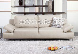 Sofa Băng Giả Da Màu Kem