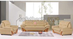 Sofa Băng Trọn Bộ Viền Gỗ Ấn Tượng