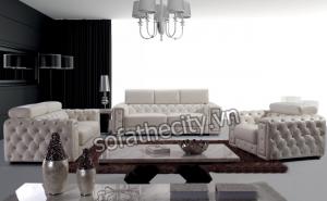 Sofa Băng Cổ Điển Màu Vàng