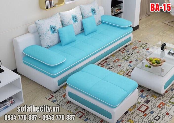 Sofa Băng Cao Cấp Da Phối Vải