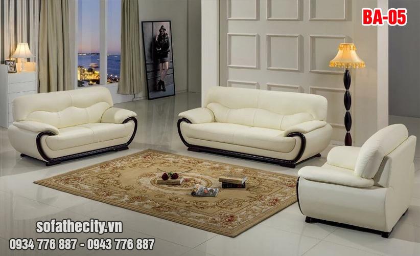 Sofa Băng Trọn Bộ Hàng Vip Màu Trắng