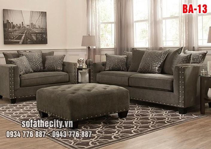 Sofa Băng Nhung Màu Nâu Rất Đẹp