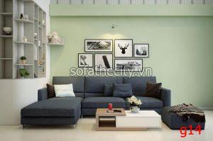 Sofa Góc Vải Bố Nhập Từ Mã Lai