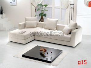 Sofa Góc Vải Màu Trắng