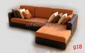 Sofa Góc Da Phối Vải Mẫu Mới