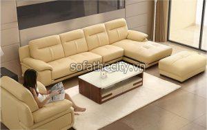 Bộ Ghế Sofa Phòng Khách Màu Vàng Kem K862