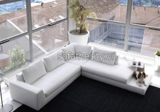 Bộ Ghế Sofa Phòng Khách Màu Trắng Sang Trọng K864