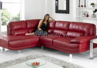 Bộ Ghế Sofa Phòng Khách Da Thật K866