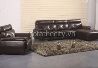 Bộ Ghế Sofa Phòng Khách Giả Da K871