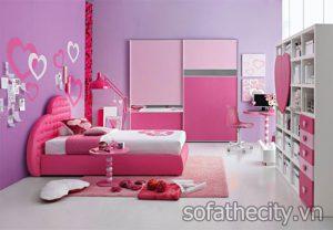 Bộ Phòng Ngủ Trẻ Em Màu Hồng