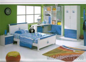 Bộ Phòng Ngủ Trẻ Em Màu Xanh Cá Tính
