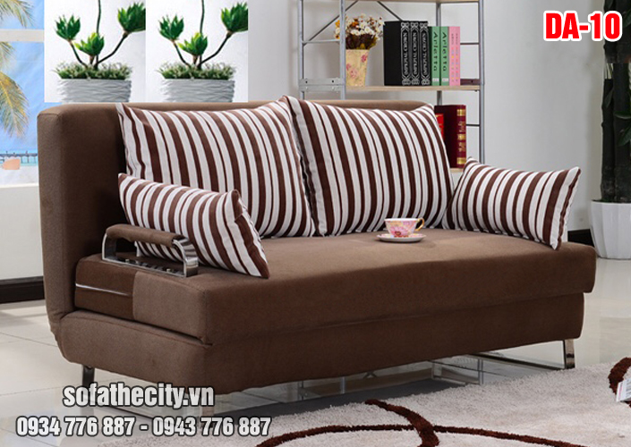 Sofa Giường Màu Nâu Sang Trọng