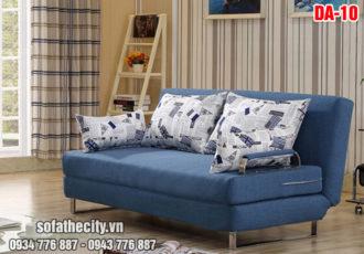Sofa Giường Hiện Đại Màu Xanh Cực Đẹp