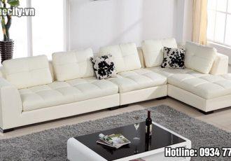 Sofa góc màu trắng đẹp cao cấp