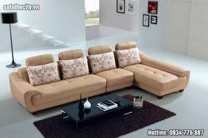 Mẫu sofa đẹp màu kem cực sang trọng