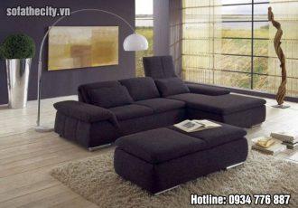 Sofa phòng khách da đen