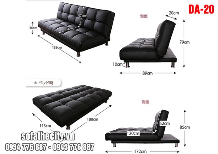 sofa giuong cao cap 3 trong 1 da20 07