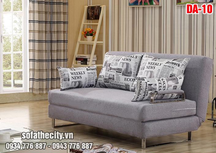 Mẫu Sofa Giường Vải Bố Màu Xám