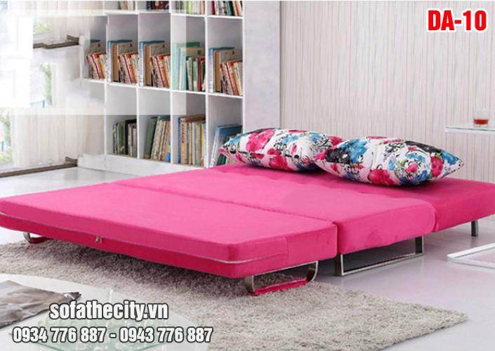 Mẫu Sofa Giường Màu Hồng Dễ Thương