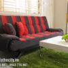 Sofa Bed Cao Cấp Giá Rẻ Sọc Đỏ Đen