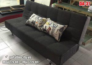 Sofa Giường Màu Xám Đen Cho Phòng Ngủ
