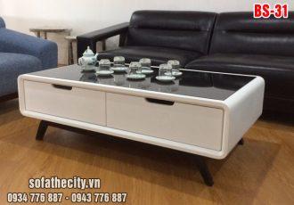 Bàn Sofa Màu Trắng Vintage BS 031