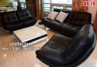 Sofa Băng Màu Đen Đẳng Cấp Qúy Tộc