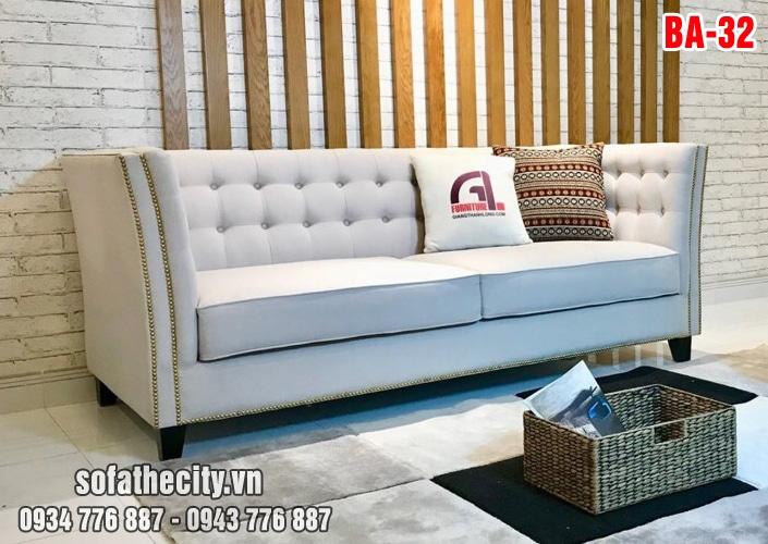 Sofa Băng Cổ Điển Màu Kem