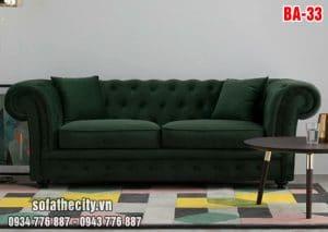 Sofa Băng Cổ Điển Vải Bố