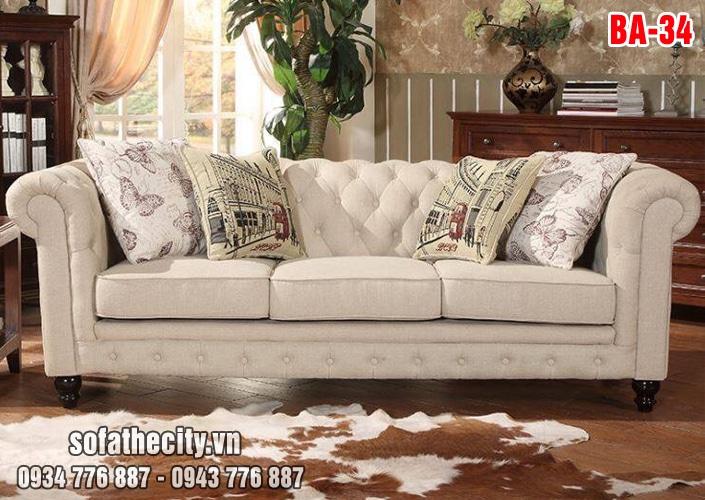 Sofa Băng Cổ Điển Nhung Nỉ