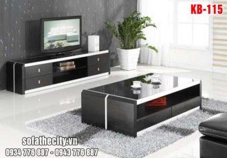 Combo Kệ Tivi – Bàn Sofa Màu Đen – KB105