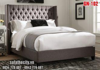 Giường Ngủ Ốp Nệm Cao Cấp GN102
