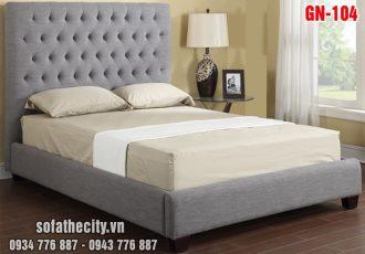 Giường Ngủ Ốp Nệm Cao Cấp GN104