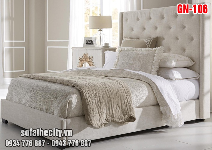 Giường Ngủ Ốp Nệm Cao Cấp GN106