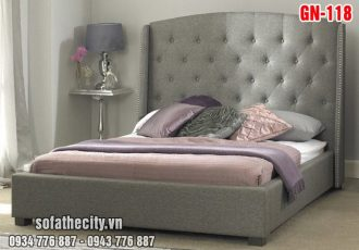 Giường Ngủ Ốp Nệm Cao Cấp GN118