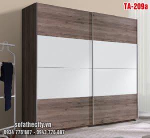 Tủ Quần Áo Cửa Lùa Mẫu Đẹp – TA209