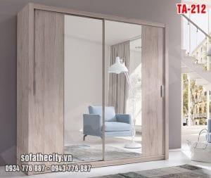 Tủ Quần Áo Cửa Lùa Mẫu Đẹp – TA212