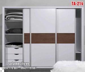 Tủ Quần Áo Cửa Lùa Mẫu Đẹp – TA214
