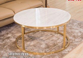 Bàn Sofa Inox 304 Mạ Vàng Nhỏ Xinh