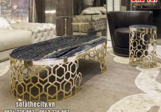 Bàn Sofa Mạ Vàng Hiện Đại